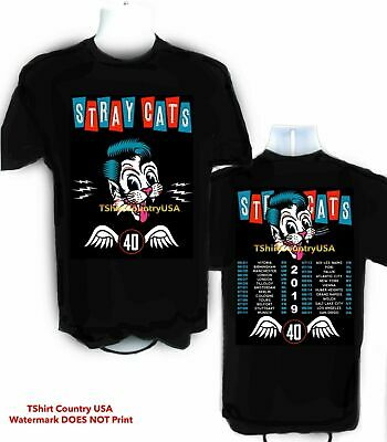 Stray Cats 2019 Concert Tour t shirt