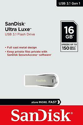 Sandisk 16GB 16 GB CZ74 Ultra Luxe USB 3.0 Chiave Flash Stick 150MB/s
