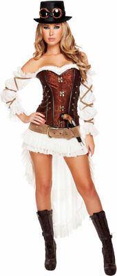 Sexy Victorian Wild West Lace Up Corset Cyberpunk Steampunk Costume Adult Women