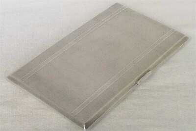 A STUNNING LARGE & HEAVY SOLID SILVER CIGARETTE / CARD CASE CHESTER 1946 212 gm