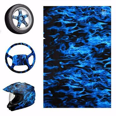 Blue Fire Style Hydrographic Water Film PVA Water Transfer Printing Films Motorb