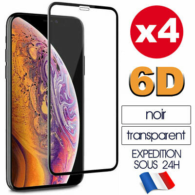 6D Vitre Protection Verre Trempé Film Ecran iPhone XR X XS MAX 8 7 Plus 6S
