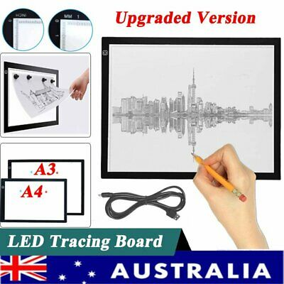 Magnetic A3 A4 Adjustable LED Light Box Copy Tracing Board Pads Drawing Tablet