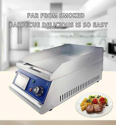 2KW Commercial Electric Griddle Hotplate Chip Fryer Grill Bacon Egg Fryer