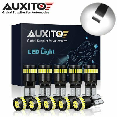 10X AUXITO 24SMD LED 501 T10 W5W Number Plate Interior Light Wedge Bulb Canbus B