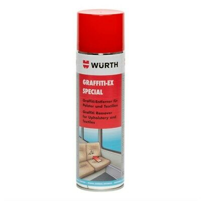 Wurth Graffiti /Felt Tip /Varnish Stain Ink Upholstery Remover Cleaner 500Ml X1