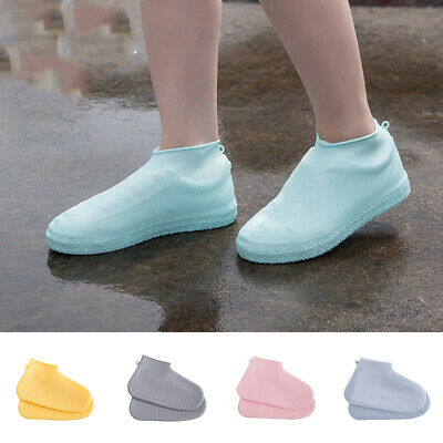 1Pair Silicone Shoe cover Outdoor Non-slip Waterproof Shoe Cover Rain Boots U009