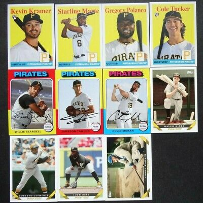 Pre-Sell 2019 Topps Archives Pittsburgh Pirates Base Team Set 11 Baseball Cards