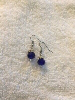 Hand crafted Navy Blue Earrings