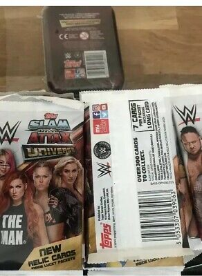 Topps Slam Attax Universe 50 Sealed Packets And 1 Sealed Mini Tin
