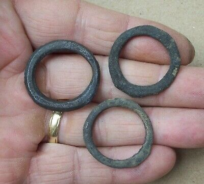 Lot of three Celtic Bronze Ring Money Detecting Finds