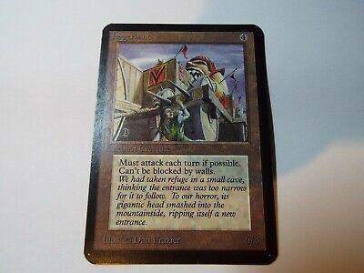 MAGIC THE GATHERING, MTG ALPHA ARTIFACT UNCOMMON CARD JUGGERNAUT, lp