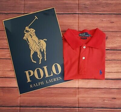 Vintage Retro Ralph Lauren Polo Shirt Small S/Sleeve Mens Top