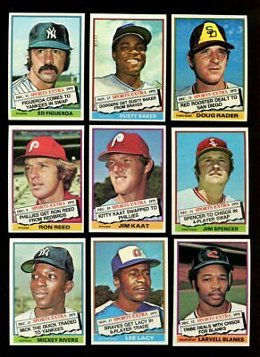 1976 Topps Traded Baseball Partial Set 39/44 Mint *190929