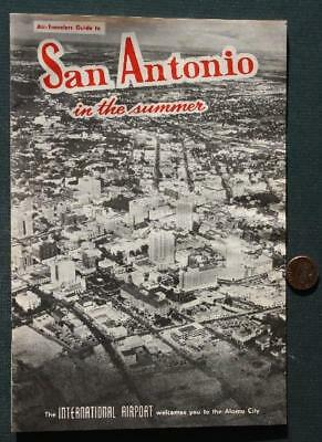 1964 San Antonio,Texas in summer International Airport guidebook-COOL Ad Images*
