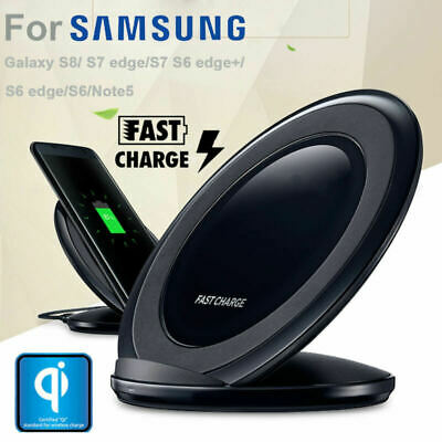 Original Qi Wireless Fast Charger Stand Pad Samsung Galaxy Note 89 S9 S8 Plus US