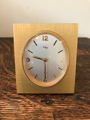 Retro Imhof Swiss Gold Look Travel Clock - 15 Jewels (spares & repairs)