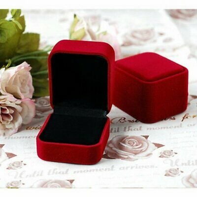 Fashion Red Velvet Jewelry Case Packing Gift Box For Rings Necklace Earrings New