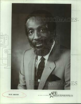 Press Photo Comedian Dick Gregory - sap22094