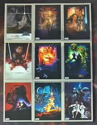 2019 Topps Star Wars Chrome Legacy MOVIE POSTER Insert Cards (Pick Your Own)