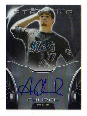 Andrew Church  Mlb 2013 Bowman Sterling Prospect Autographs (New York Mets)