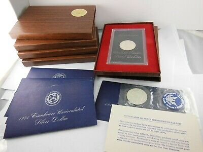 1971 US Eisenhower Silver Dollar Proof & BU - Lot of 10 Coin