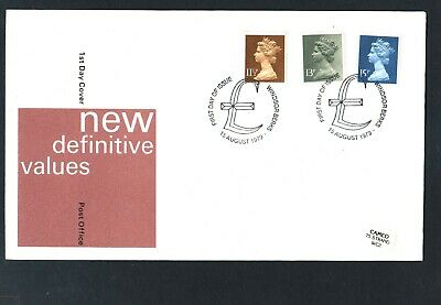 GB Machin FDC 15/7/1979 ,11.5p,13p,15p,New Defins  P/M Windsor Berks  ( 1 )