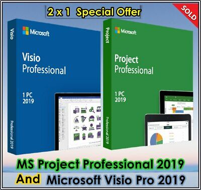 MS Microsoft Visio Professional + projet professionnel ✅ Ful Pack version 2019 ✅