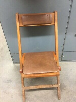 Vintage Original Snyder Wooden Folding Chair Mid Century, 1950's