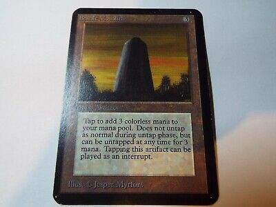 MAGIC THE GATHERING, MTG ALPHA ARTIFACT UNCOMMON CARD BASALT MONOLITH, lp-ex