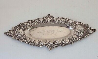 English Sterling silver Antique Vintage Small Repose Tray