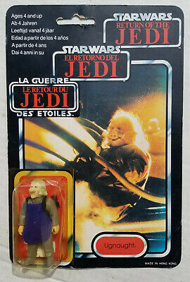 Star Wars UGNAUGHT Figure TRI LOGO Vintage Carded MOC Palitoy Trilogo Bespin