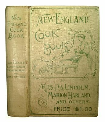 Antique Victorian Cookbook Cookery 1894 Recipes Vintage Pastry Confectionery Old