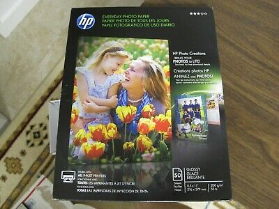 50/pack HP Everyday Photo Paper Glossy 8-1/2 x 11 50 Sheets/Pack Q8723A 8.5