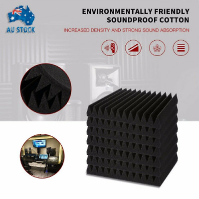 20PCS Studio Acoustic Foam Sound Absorbtion Proofing Panel Wedge 30*30cm