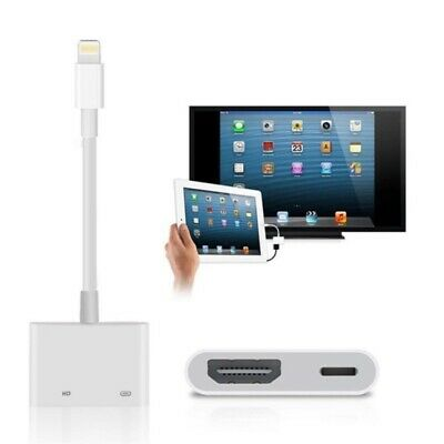Lightning to HDMI Digital AV TV Cable Adapter For Apple iPad iPhone X 6/7/8 Plus