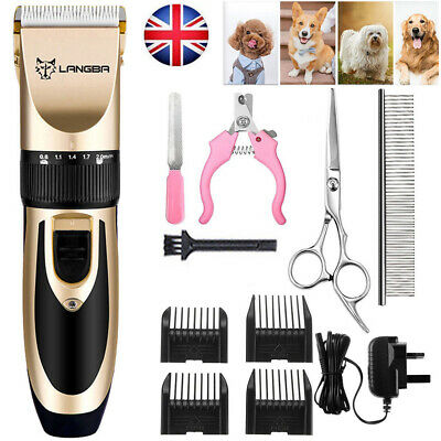 Pet Dog Clipper Grooming Trimmer Animal Hair Professional Electric Shaver Kit zz