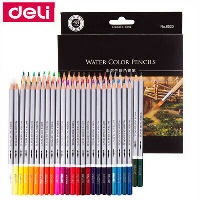 Deli 24/36/48/72 Watercolor Pencils Water-soluble Assorted Art Drawing Suppliers