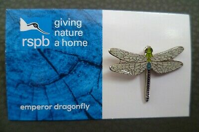 Rspb Emperor Dragonfly Pin Badge