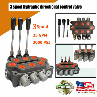 3 Spool Hydraulic Directional Control Valve Double Acting Cylinder Spool US