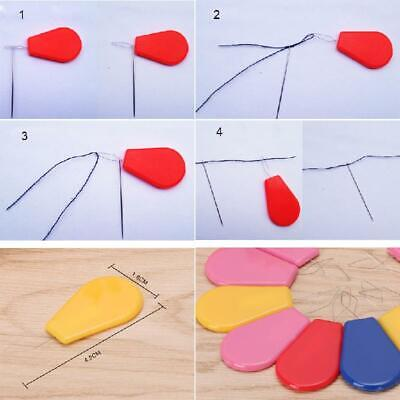 10Pcs Bow Wire Needle Threader Hand Machine Sewing Stitch Insertion Tool Plastic