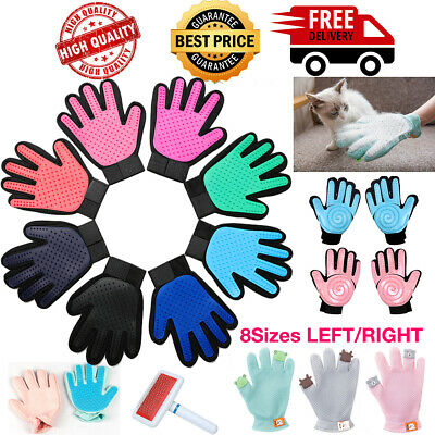 Cleaning Brush Magic Glove Pet Dog Cat Massage Hair Fur Remover Self Grooming