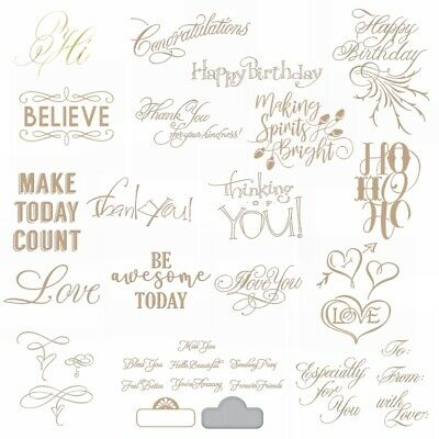 Expressions Greetings and Wishes Metal Cutting Dies DIY Album Stencil Embossing