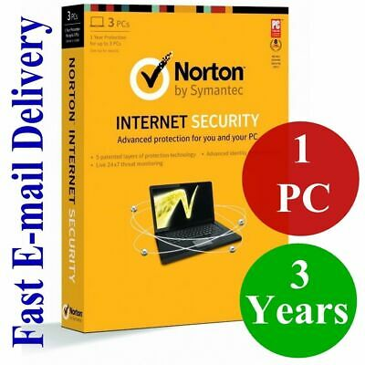 Norton Internet Security Premium Antivirus 2019 - 1 PC 3 Year GLOBAL