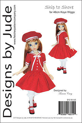 Ship to Shore Doll Clothes Sewing Pattern 46cm Kaye Wiggs MSD BJD