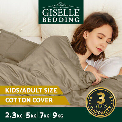 Giselle Gravity Weighted Blanket Kids Adult 2.3/5/7/9KG Cotton Microfibre Cover
