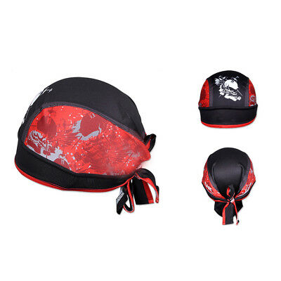 Skull Cap Pirate Hat Men Scarf Head Tie Down Band Unisex Bicycling Cap Practical