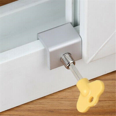 Window Door Restrictor Key Lock Wire Child Safety Sliding Sash Stopper Screws