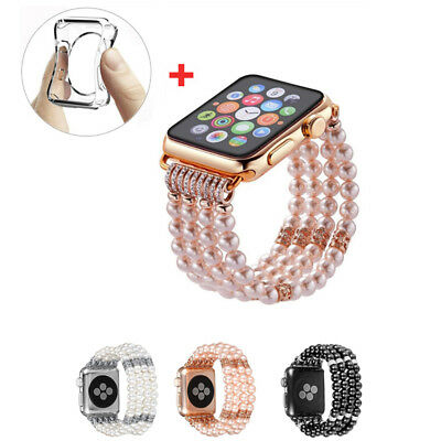 For Apple Watch Band Bling Agate Beads Strap Bracelet iWatch Series 40mm/44mm
