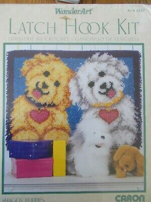 """Latch Hook Kit """" Shaggy Puppies"""" New by Caron"""
